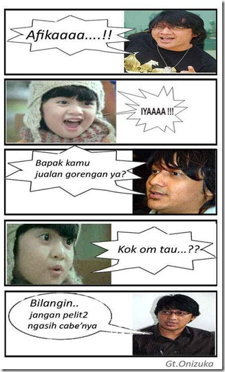 ... lucu Afika (Bintang Iklan Bebelac dan Oreo) dengan SBY, Nazaruddin dan